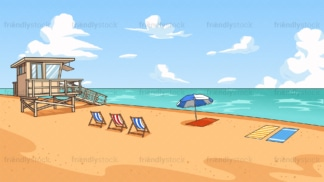 Summer beach background in 16:9 aspect ratio. PNG - JPG and vector EPS file formats (infinitely scalable).