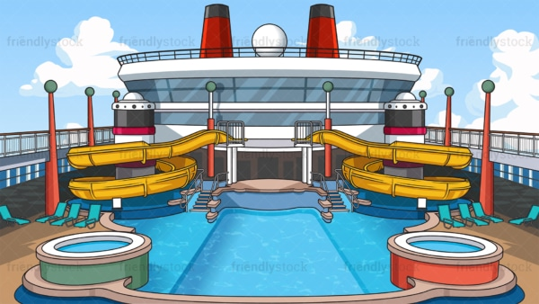 Cruise ship swimming pool background in 16:9 aspect ratio. PNG - JPG and vector EPS file formats (infinitely scalable).