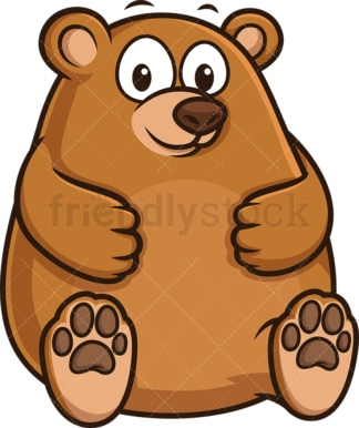 Chubby bear. PNG - JPG and vector EPS (infinitely scalable).