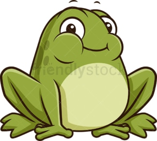 Chubby frog. PNG - JPG and vector EPS (infinitely scalable).