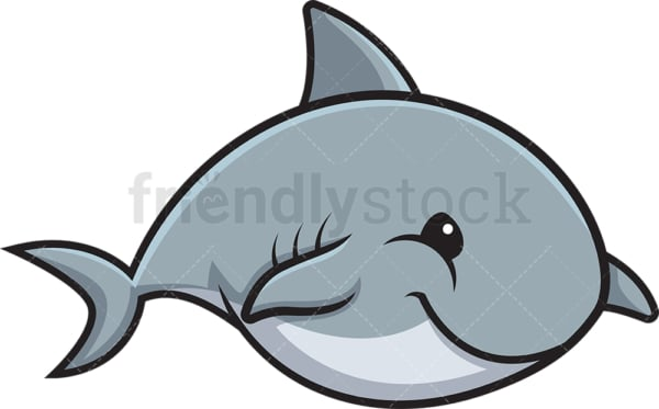 Chubby shark. PNG - JPG and vector EPS (infinitely scalable).