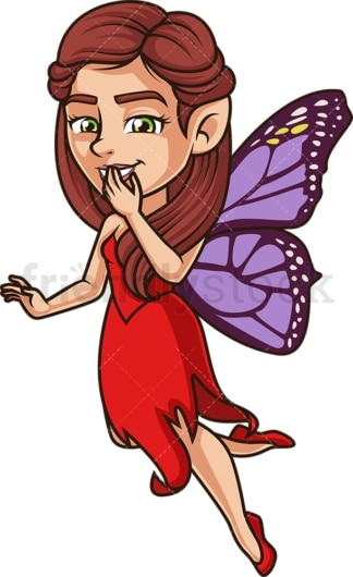 Giggling fairy. PNG - JPG and vector EPS (infinitely scalable).