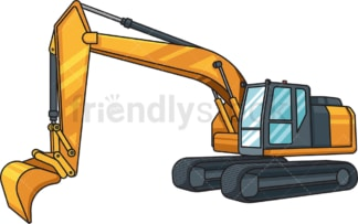 Realistic excavator. PNG - JPG and vector EPS file formats (infinitely scalable). Image isolated on transparent background.