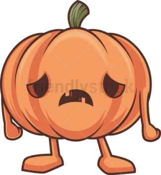 Sad jack o lantern. PNG - JPG and vector EPS (infinitely scalable).
