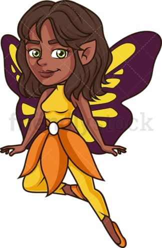African-American fairy. PNG - JPG and vector EPS (infinitely scalable).