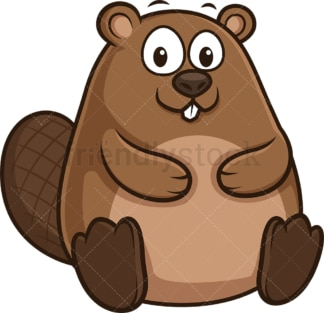 Chubby beaver. PNG - JPG and vector EPS (infinitely scalable).