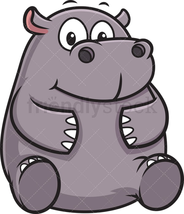Chubby hippo. PNG - JPG and vector EPS (infinitely scalable).