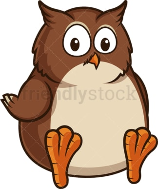 Chubby owl. PNG - JPG and vector EPS (infinitely scalable).