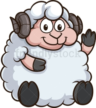 Chubby sheep. PNG - JPG and vector EPS (infinitely scalable).