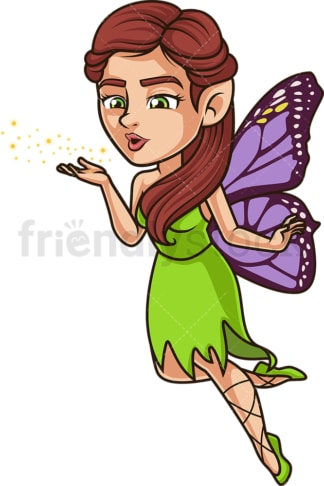 Magical fairy blowing pixie dust. PNG - JPG and vector EPS (infinitely scalable).
