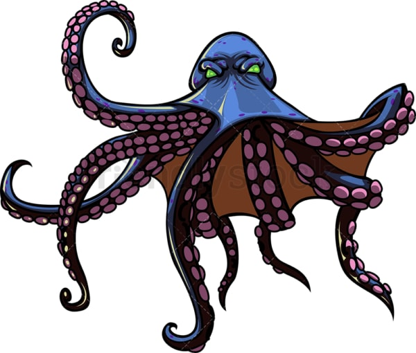 Monster octopus zombie. PNG - JPG and vector EPS (infinitely scalable).