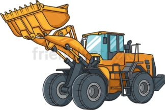 Realistic construction loader. PNG - JPG and vector EPS file formats (infinitely scalable). Image isolated on transparent background.