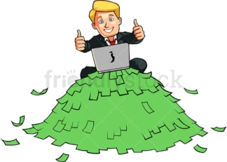 Rich successful internet businessman. PNG - JPG and vector EPS file formats (infinitely scalable). Image isolated on transparent background.