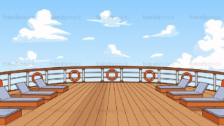 Cruise ship deck background in 16:9 aspect ratio. PNG - JPG and vector EPS file formats (infinitely scalable).