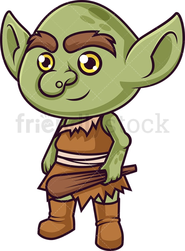 Cute forest goblin. PNG - JPG and vector EPS (infinitely scalable).