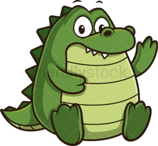 Chubby alligator. PNG - JPG and vector EPS (infinitely scalable).