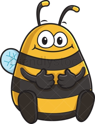 Chubby bee. PNG - JPG and vector EPS (infinitely scalable).