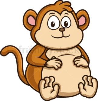 Chubby monkey. PNG - JPG and vector EPS (infinitely scalable).