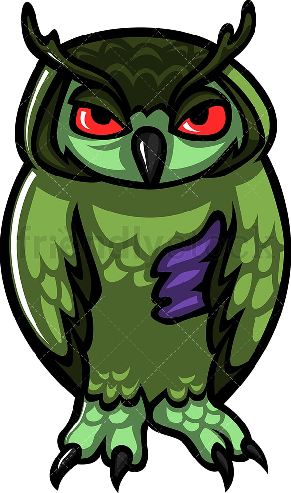 Monster owl zombie. PNG - JPG and vector EPS (infinitely scalable).