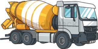 Realistic cement mixer truck. PNG - JPG and vector EPS file formats (infinitely scalable). Image isolated on transparent background.