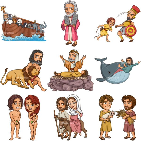 Biblical figures. PNG - JPG and infinitely scalable vector EPS - on white or transparent background.