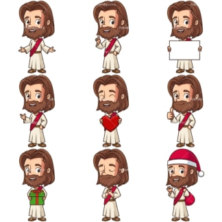 Kawaii jesus christ. PNG - JPG and infinitely scalable vector EPS - on white or transparent background.