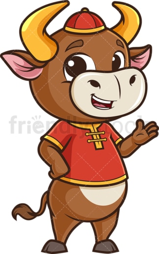 Chinese happy new year ox. PNG - JPG and vector EPS (infinitely scalable).