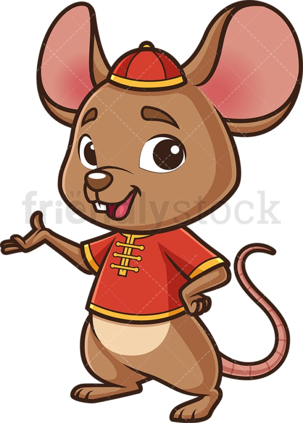 Chinese happy new year rat. PNG - JPG and vector EPS (infinitely scalable).