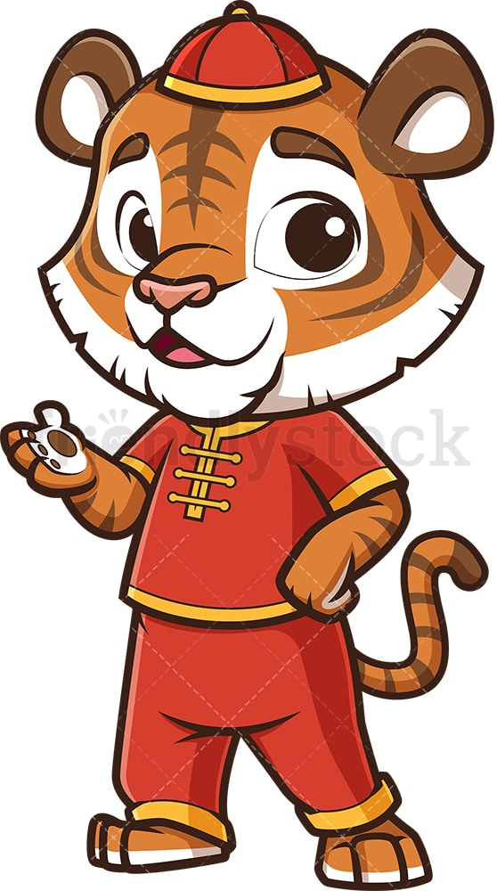 Chinese happy new year tiger. PNG - JPG and vector EPS (infinitely scalable).