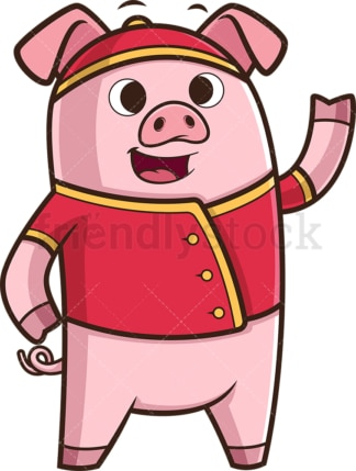 Happy chinese new year pig. PNG - JPG and vector EPS (infinitely scalable).