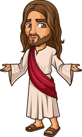 Jesus Christ welcoming everyone. PNG - JPG and vector EPS (infinitely scalable).