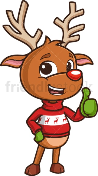 Reindeer thumbs up. PNG - JPG and vector EPS (infinitely scalable).