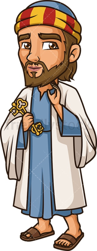Peter The Apostle. PNG - JPG and vector EPS file formats (infinitely scalable). Image isolated on transparent background.