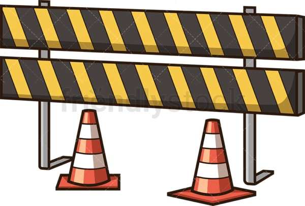 Construction barrier. PNG - JPG and vector EPS file formats (infinitely scalable). Image isolated on transparent background.