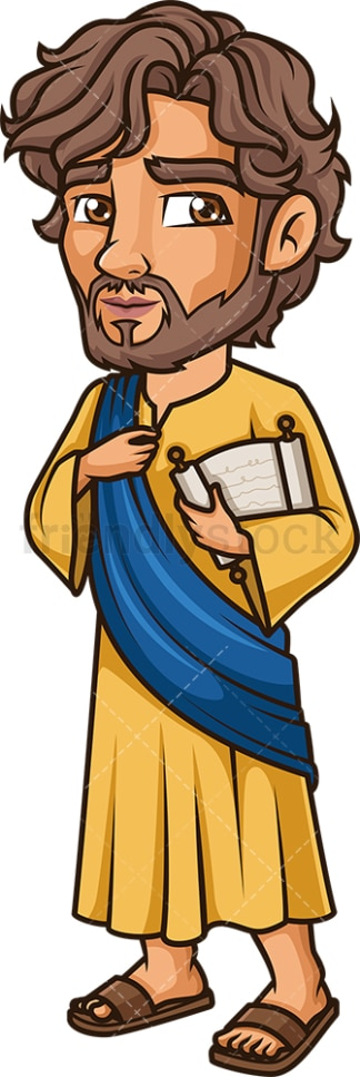 Simon The Apostle. PNG - JPG and vector EPS file formats (infinitely scalable). Image isolated on transparent background.