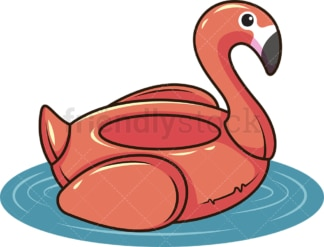 Inflatable swan pool float. PNG - JPG and vector EPS file formats (infinitely scalable). Image isolated on transparent background.