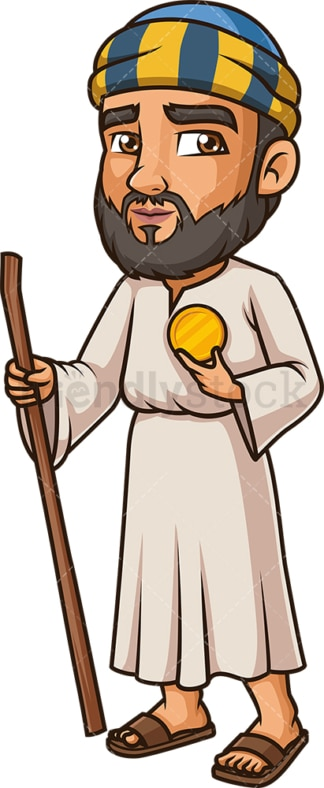 Jude Thaddeus The Apostle. PNG - JPG and vector EPS file formats (infinitely scalable). Image isolated on transparent background.