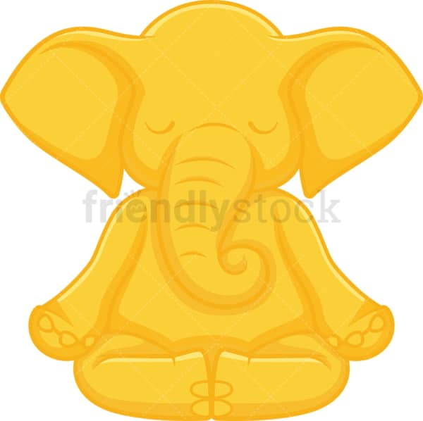 Golden elephant. PNG - JPG and vector EPS file formats (infinitely scalable). Image isolated on transparent background.