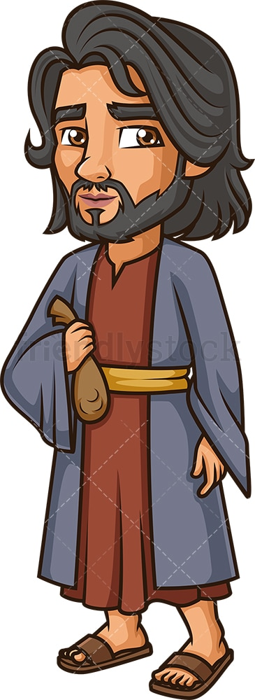 Judas Iscariot. PNG - JPG and vector EPS file formats (infinitely scalable). Image isolated on transparent background.