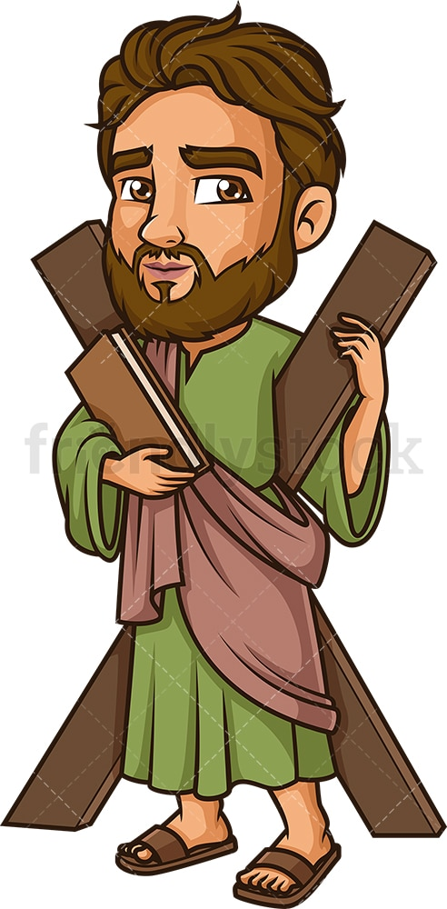 Andrew The Apostle. PNG - JPG and vector EPS file formats (infinitely scalable). Image isolated on transparent background.