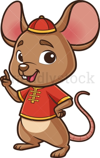 Chinese new year rat pointing up. PNG - JPG and vector EPS (infinitely scalable).
