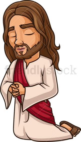 Jesus Christ prays. PNG - JPG and vector EPS (infinitely scalable).