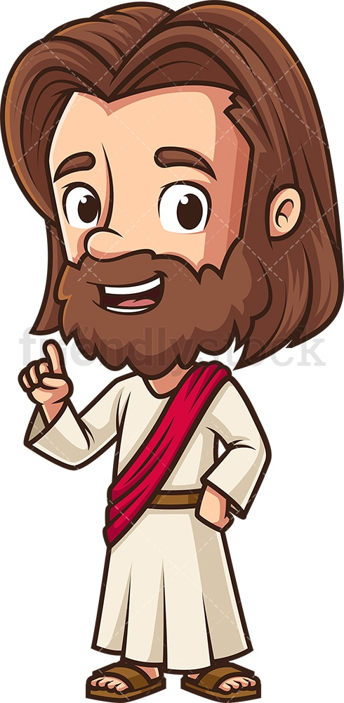 Jesus saying something important. PNG - JPG and vector EPS (infinitely scalable).