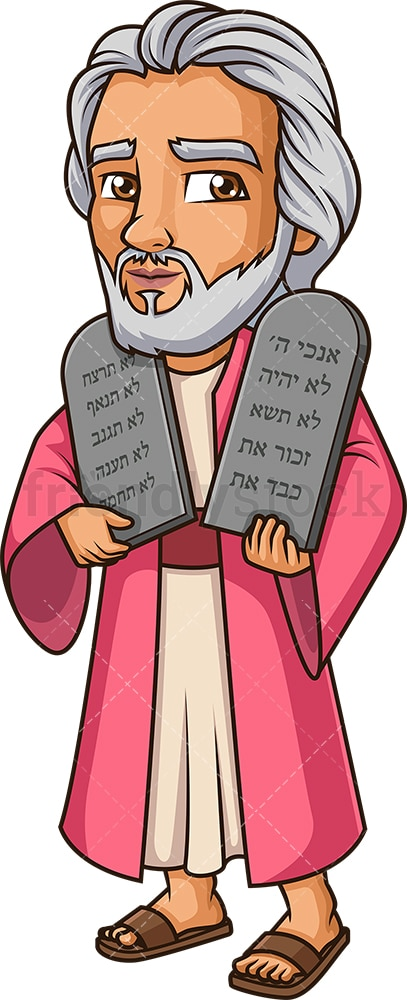 Moses holding the ten commandments. PNG - JPG and vector EPS (infinitely scalable).