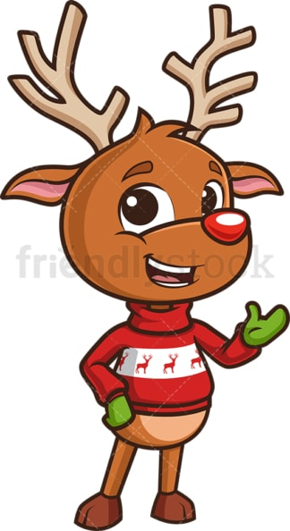 Reindeer giving a presentation. PNG - JPG and vector EPS (infinitely scalable).