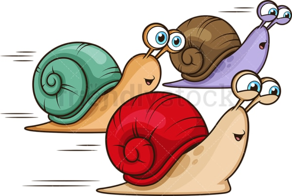 Snail race. PNG - JPG and vector EPS file formats (infinitely scalable). Image isolated on transparent background.
