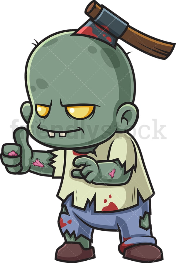 Little zombie thumbs up. PNG - JPG and vector EPS (infinitely scalable).