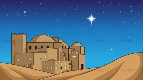 Nativity christmas bethlehem star background in 16:9 aspect ratio. PNG - JPG and vector EPS file formats (infinitely scalable).