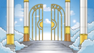 Entrance into heaven background in 16:9 aspect ratio. PNG - JPG and vector EPS file formats (infinitely scalable).