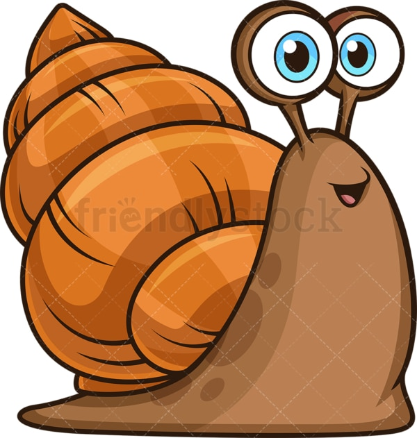 Happy sea snail. PNG - JPG and vector EPS file formats (infinitely scalable). Image isolated on transparent background.